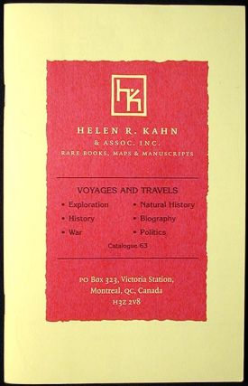 Voyages and Travels: Catalogue 63 [Helen R. Kahn]