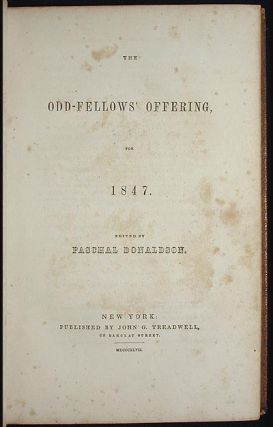 The Odd-Fellows' Offering for 1847 [Independent Order of Odd Fellows]