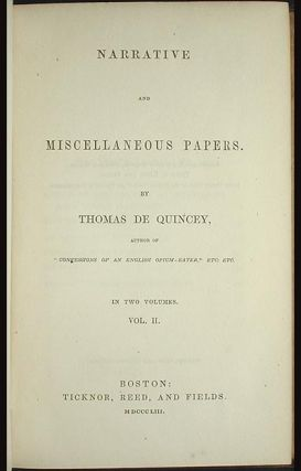 Narrative and Miscellaneous Papers [2 vols]