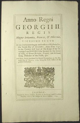 An Act for Reducing the Number of Directors of the Corporation of the Governor and Company of Merchants of Great Britain Trading to the South Seas, and other Parts of America; and for Encouraging the Fishery