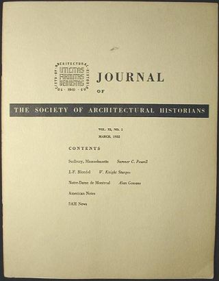 Society of Architectural Historians. Sumner C. Powell, W. Knight Sturges, Alan Gowans