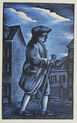 Benjamin Franklin: A Wood Engraving by John DePol with the Compliments of New York Club of...