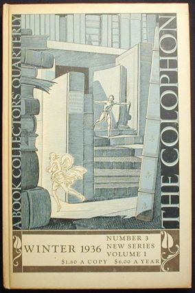 The Colophon New Series: A Quarterly for Bookmen--Winter 1936 Vol. 1 No. 3