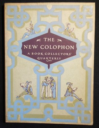 The New Colophon: A Book Collectors' Quarterly -- Vol. 2 Part 7 September 1949. Marianne Moore