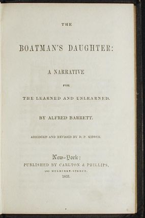 The Boatman's Daughter: a Narrative for the Learned and Unlearned by Alfred Barrett; abridged and...