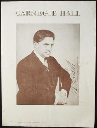 Carnegie Hall [program for the Philharmonic-Symphony Society of New York with John Barbirolli and Eugene List] 1943