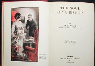 The Soul of A Bishop; frontispiece by C. Allan Gilbert [Clara Irene Shively Knight provenance]