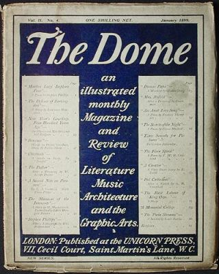The Dome: An Illustrated Monthly Magazine and Review of Literature, Music, Architecture, and the...
