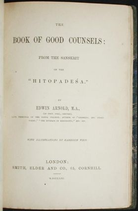 "The Book of Good Counsels: From the Sanskrit of the ""Hitopadesa""; by Edwin Arnold with illustrations by Harrison Weir"