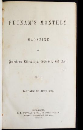 Putnam's Monthly Magazine of American Literature, Science, and Art vol. 1 Jan. to June 1853