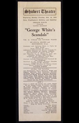 George White's Scandals: Ninth Edition (1928 show) [Shubert Theatre playbill 1929