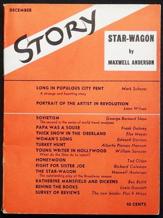 Story: The Magazine of the Short Story -- Dec. 1937 -- vol. 11 no. 65. Maxwell Anderson, George...