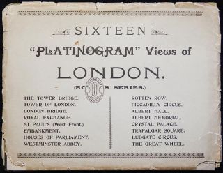 "Sixteen ""Platinogram"" Views of London (Robey's Series). Thomas F. Robey."