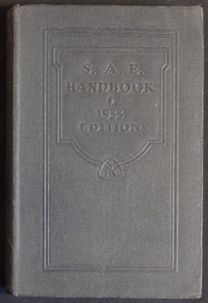 S.A.E. Handbook 1933 Edition [Society of Automotive Engineers