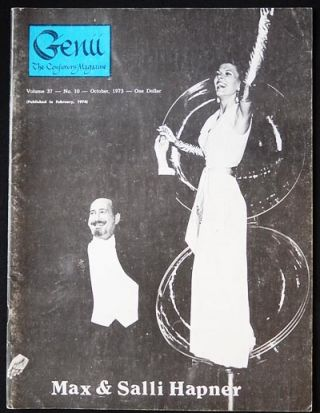 Genii: The Conjurors' Magazine Oct. 1973 vol. 37 no. 10