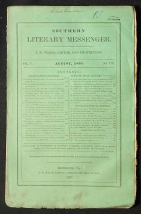 Southern Literary Messenger Aug. 1839 vol. 5, no. 8 [Maria Gowen Brooks]. George Combe