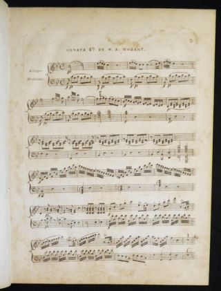 A Favorite Sonata for the Piano Forte, with an Accompt. for the Violin; composed by W.A. Mozart