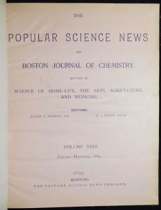 The Popular Science News and Boston Journal of Chemistry: Devoted to Science of Home-Life, the...
