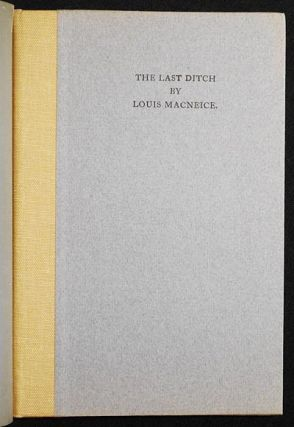 The Last Ditch. Louis MacNeice