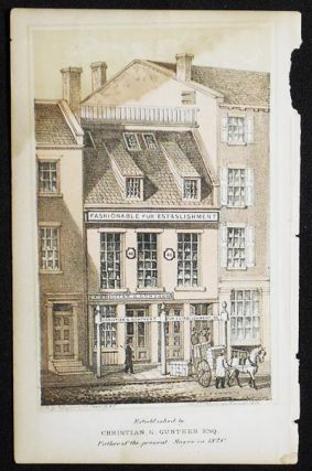 Chromolithograph of Christian G. Gunther's Fur Establishment [from Valentine's Manual of the...