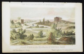 Fort Fish on the Northside of Central Park [chromolithograph from Valentine's Manual of the...