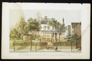 Mr. Stewart's House 54th St. betw. Broadway & 7th Aved. [chromolithograph from Valentine's Manual...