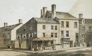 Grocery & Tea Store, corner of Spring & Crosby St. N.Y. 1826; Owned and occupied by Charles Dusenberry Esq. and for several years thereafter [chromolithograph from Valentine's Manual of the Corporation of the City of New York]