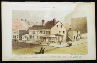The Oldest House Foot of Murray Hill, cor. 3d Av. & 34th St. [chromolithograph from Valentine's Manual of the Corporation of the City of New York]