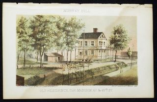 Old Residence, cor. Madison Av. & 40th St. [chromolithograph from Valentine's Manual of the Corporation of the City of New York]