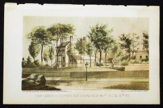 The Cargle estate N.E. corner of 60th St. & 10th Av. [chromolithograph from Valentine's Manual of...