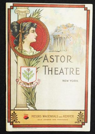 Astor Theatre program for The Man From Home starring William Hodge 1909