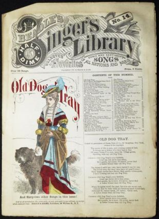 "Beadle's Half-Dime Singer's Library No. 14: ""Old Dog Tray"""