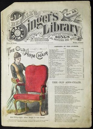 "Beadle's Half-Dime Singer's Library No. 22: ""The Old Arm Chair"""