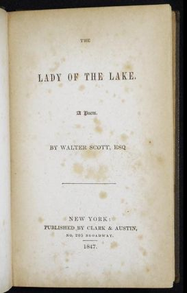 The Lady of the Lake: A Poem by Walter Scott