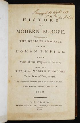 The History of Modern Europe: With an Account of the Decline and Fall of the Roman Empire: and a...