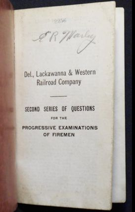 Second Series of Questions for the Progressive Examinations of Firemen