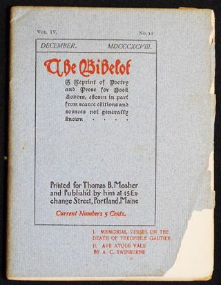 The Bibelot: A Reprint of Poetry and Prose for Book Lovers, chosen in part from scarce editions...
