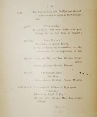 A Record of the Opera in Philadelphia by W.G. Armstrong [provenance: Fry family]