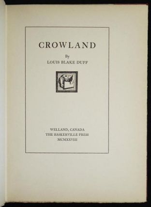 Crowland by Louis Blake Duff [woodcuts by A.G. Thum]