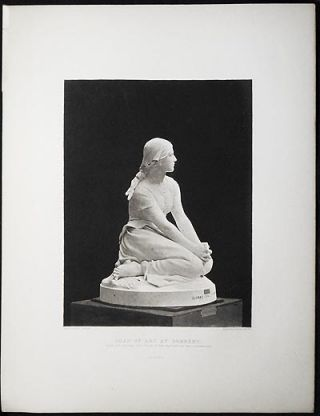 Joan of Arc at Domrémy; by H.M.A. Chapu [1 print by Gravure Goupil et Cie]