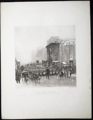 The Passing Regiment: From the Original Painting in the Corcoran Gallery, Washington, D.C.; by E. Detaille [1 print from The Masterpieces of French Art]