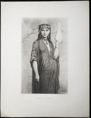 A Woman of Thebes by Charles Landelle [1 print from The Masterpieces of French Art]