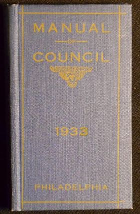 Manual of the City Council of Philadelphia for 1933; compiled by David W. Harris, Clerk, City...