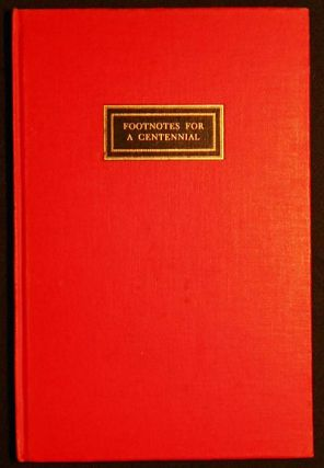 Footnotes for a Centennial by Christopher Morley. Christopher Morley