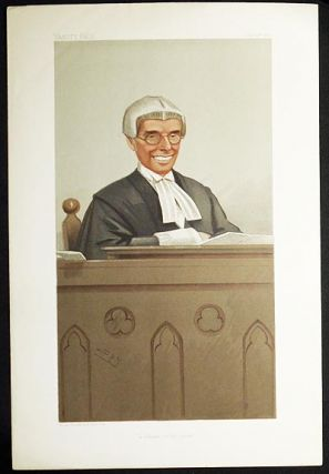 """A Lawyer on the Bench"": The Honorable Sir Joseph Walton (Judges, no. 66) -- Vanity Fair, July 24, 1902. Leslie Ward."