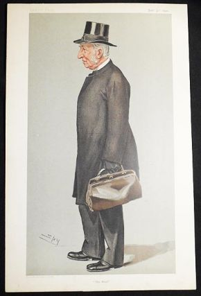 """The Head"": J.J. Hornby (Men of the Day no. 800) -- Vanity Fair, Jan. 31, 1901. Leslie Ward."