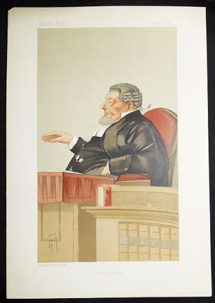 """London Sessions"": Sir Peter Henry Edlin (Judges, no. 34) -- Vanity Fair, Oct. 31, 1891. Leslie Ward"