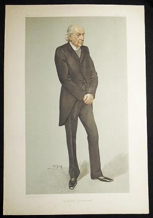 """A Railway Commissioner"": Sir Frederick Peel (Men of the Day, no. 902) -- Vanity Fair, Dec. 17,..."