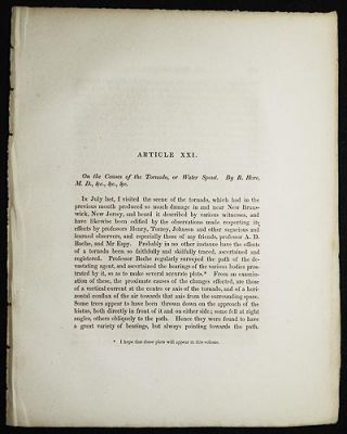 On the Causes of the Tornado, or Water Spout by R. Hare [Transactions of the American...