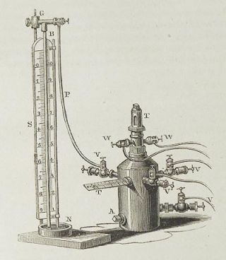 Of an Improved Barometer Gage Eudiometer by R. Hare [Transactions of the American Philosophical Society, vol. 5 New Series, Article XXIII]